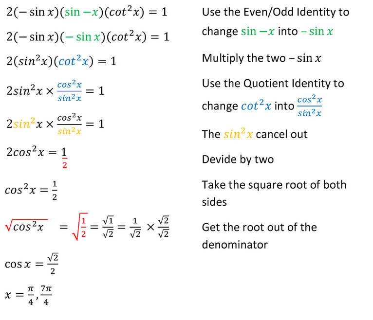 Solving Problems: Hard - Trig Identities